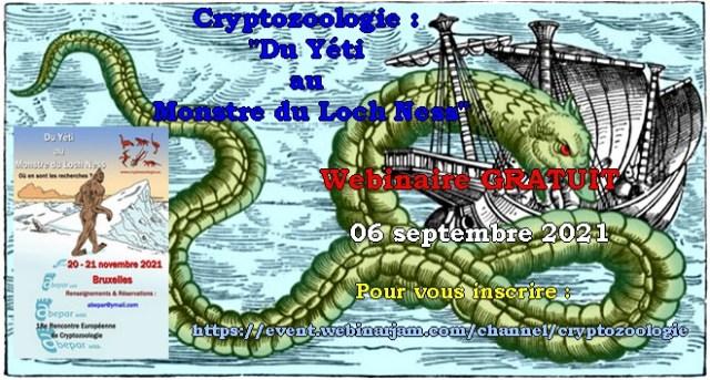 """Webinaire """"Cryptozoologie : du Yéti au Monstre du Loch Ness"""""""