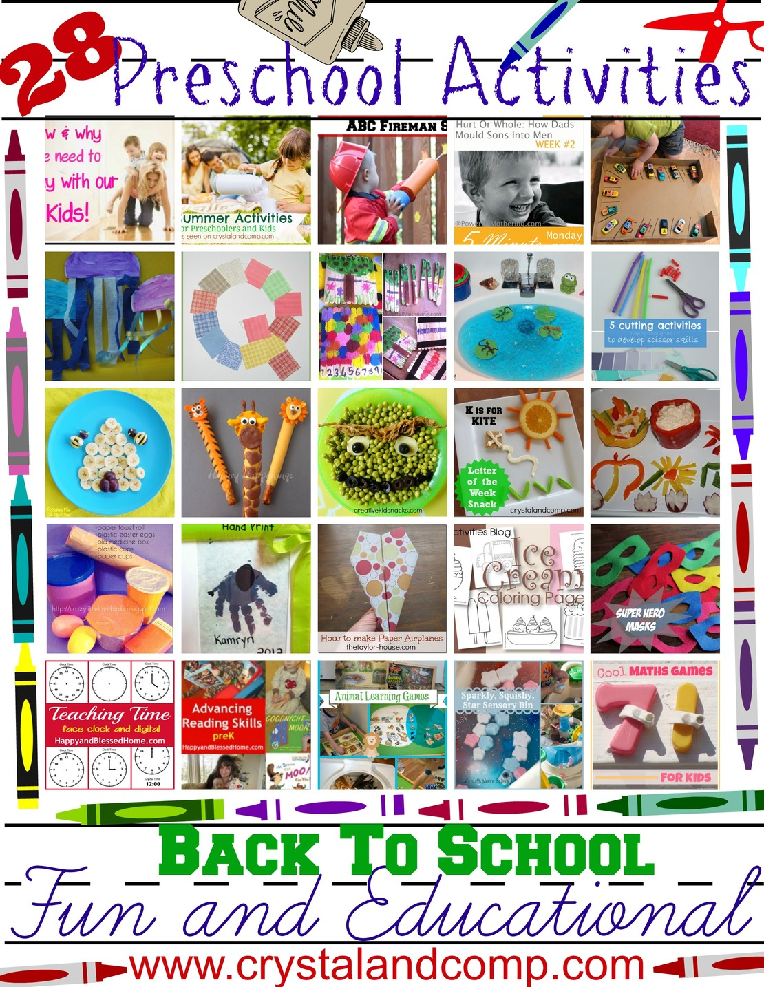 28 Fun And Educational Preschool Activities For Back To