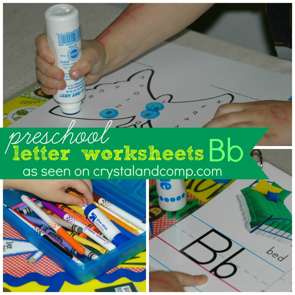 Preschool Letter Worksheet For B