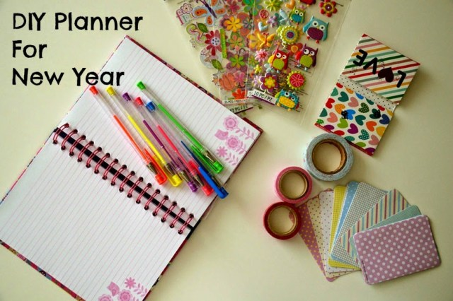 DIY planner, planner decoration,new year resolution, journal