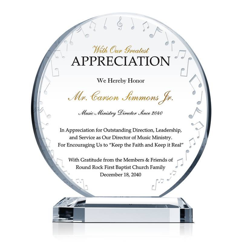 music ministry director appreciation