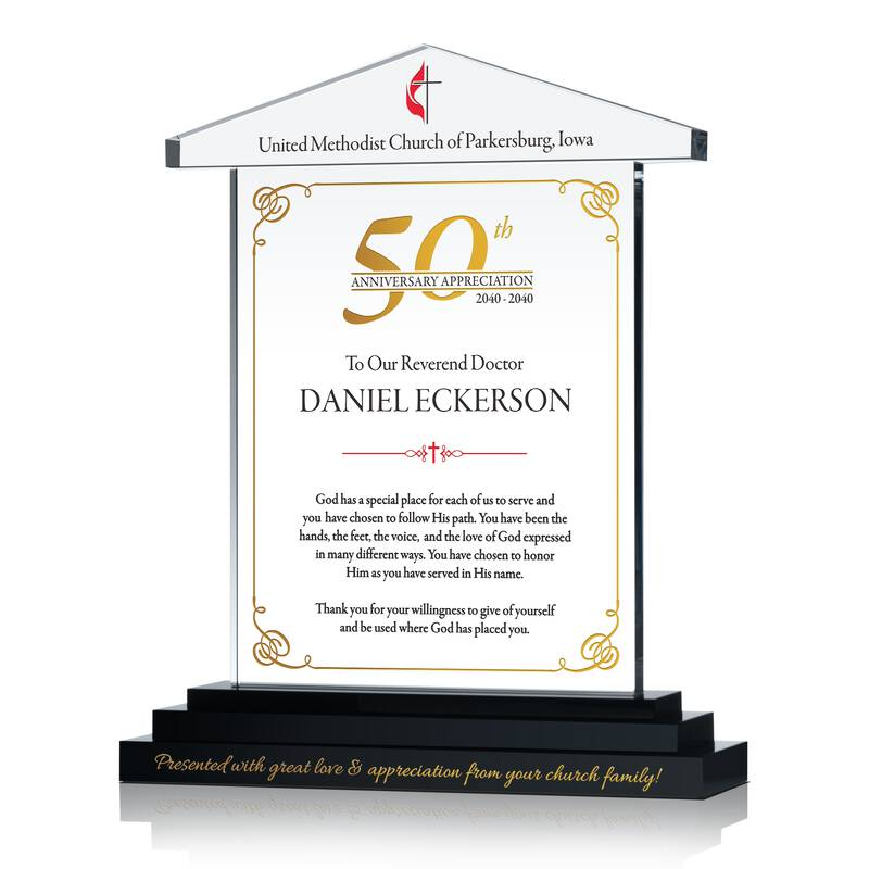 50th anniv appreciation plaque