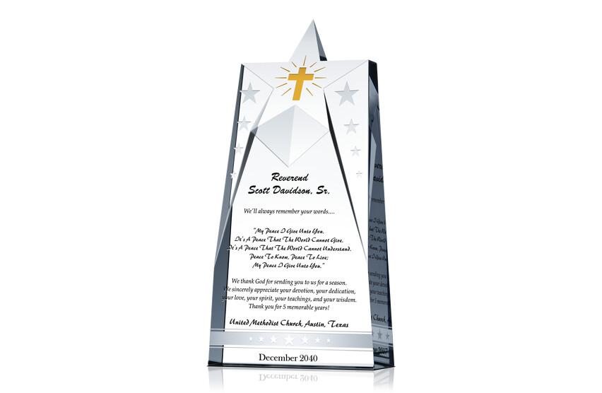 Star Pastor Appreciation Gift Plaques