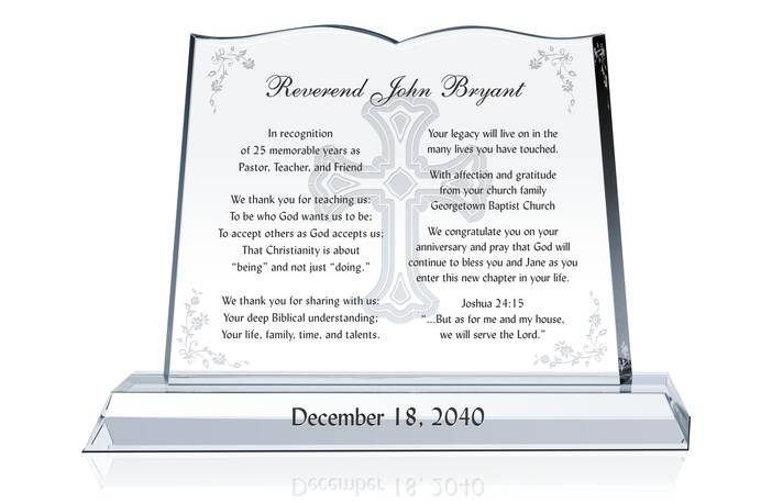 Pastor Anniversary Quotes, Scriptures & Gift Plaque