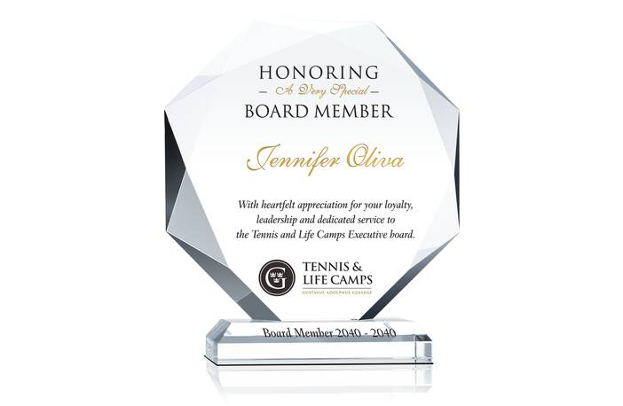 Crystal Board of Director Recognition Awards