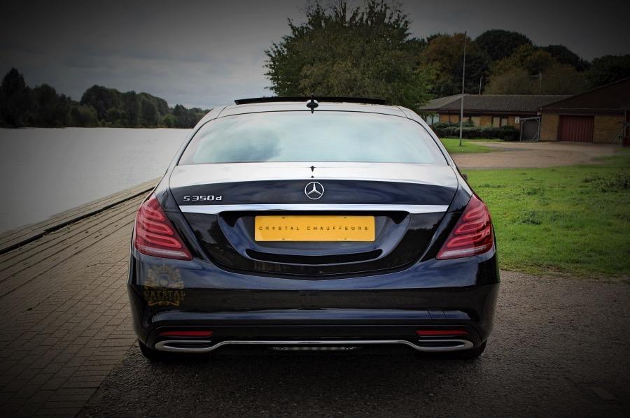 Black S Class Mercedes wedding car hire  executive Hire