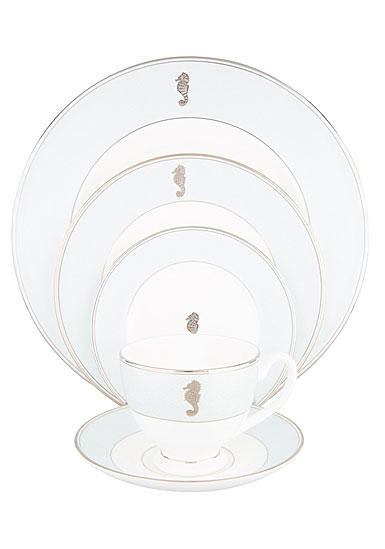 Waterford China Seahorse Ocean 5 Piece Place Setting