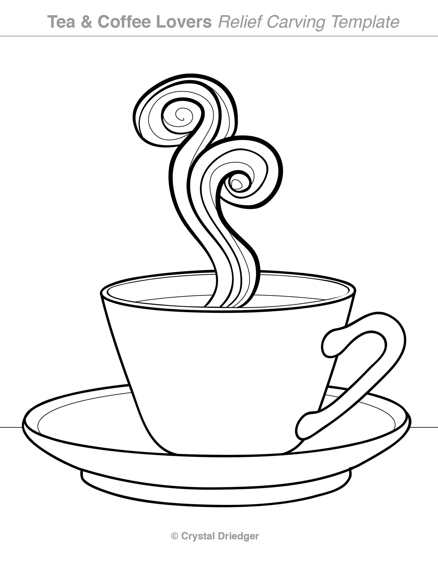 Tea cup cut out template maxwellsz