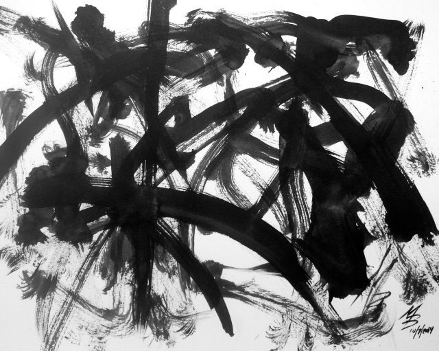 Abstract Ink by Mark Bray Oct 7 2014 Drawing  for InkTober  1