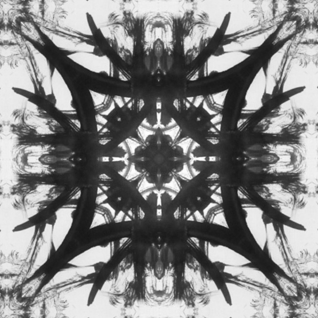 Abstract Ink Kaleidoscope by Mark Bray  Oct 7 2014 InktTober 1