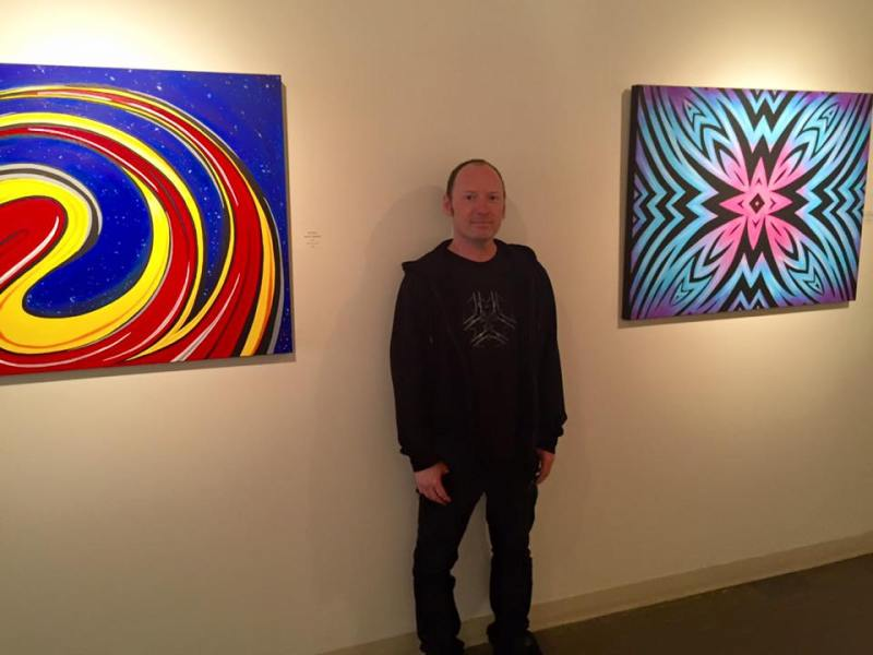 Mark_Bray_at_Sanchez_with_Paintings