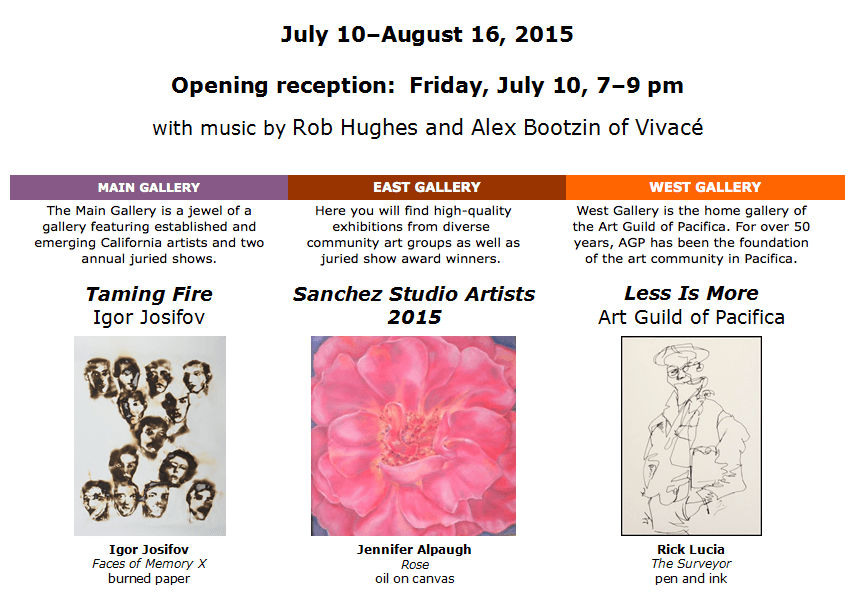 Shows at Sanchez Art Center July 2015