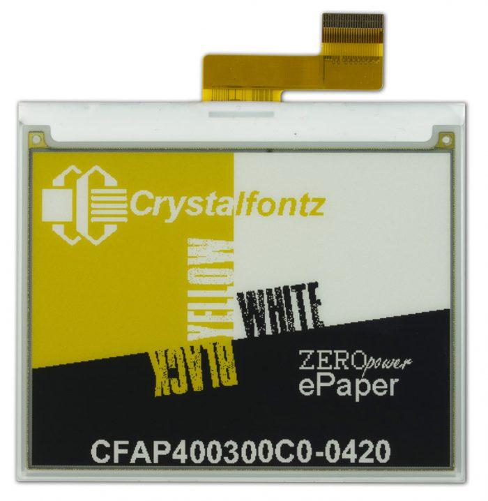 """Crystalfontz 4.2"""" 3-color epaper"""