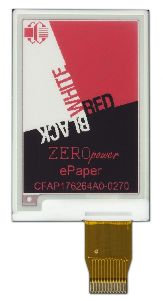 Crystalfontz 3-color epaper display