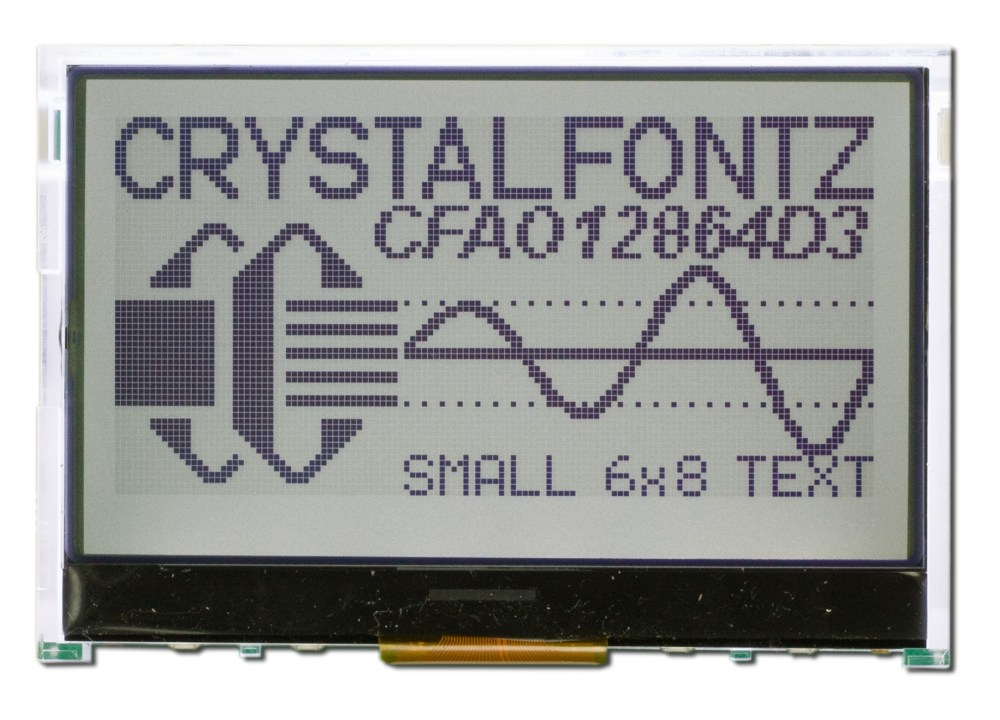 medium resolution of 128x64 graphical lcd module cfao12864d3 tfh