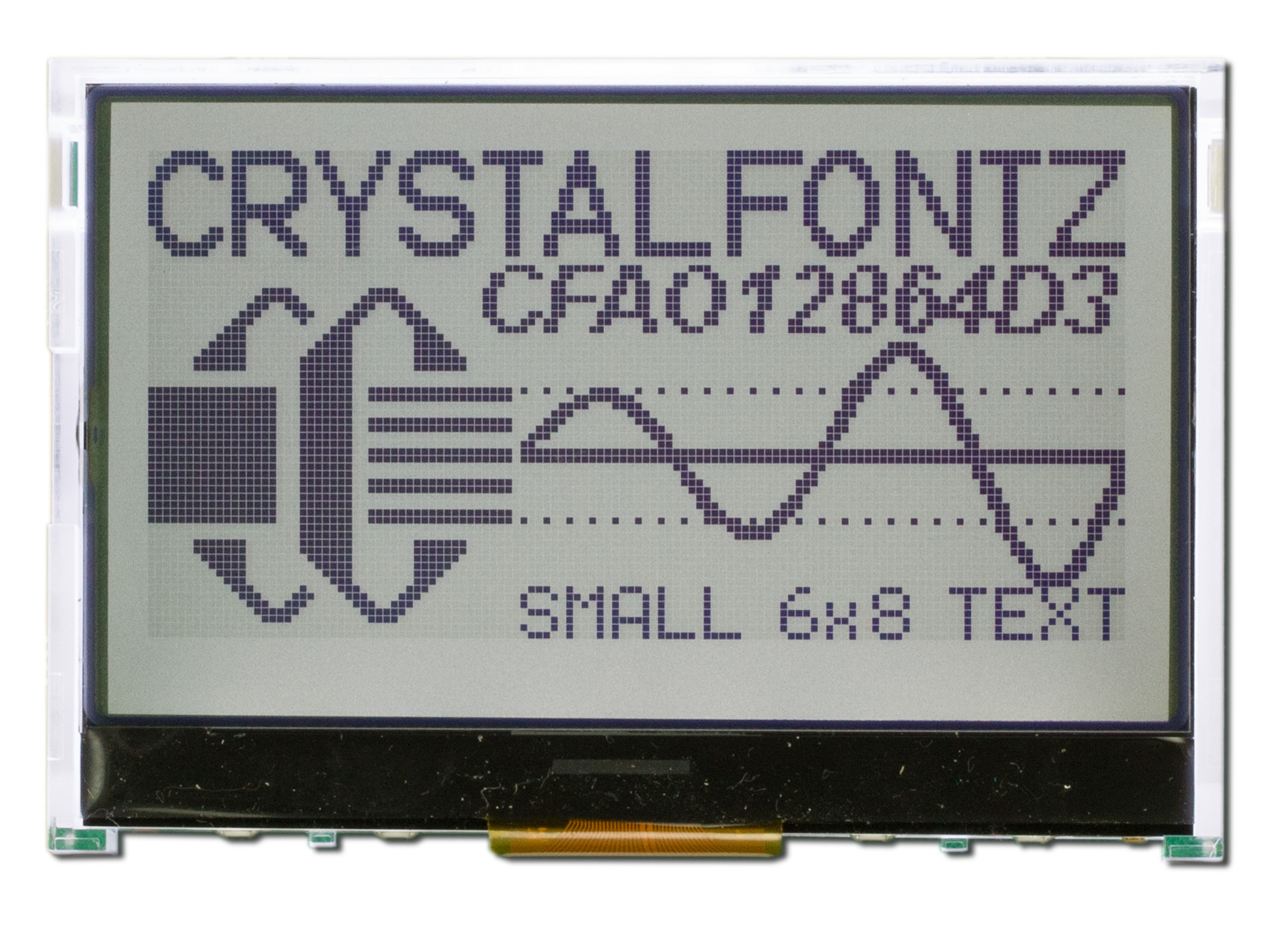 hight resolution of 128x64 graphical lcd module cfao12864d3 tfh