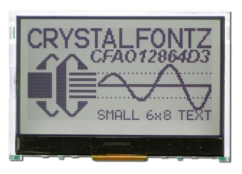 small resolution of 128x64 graphical lcd module cfao12864d3 tfh