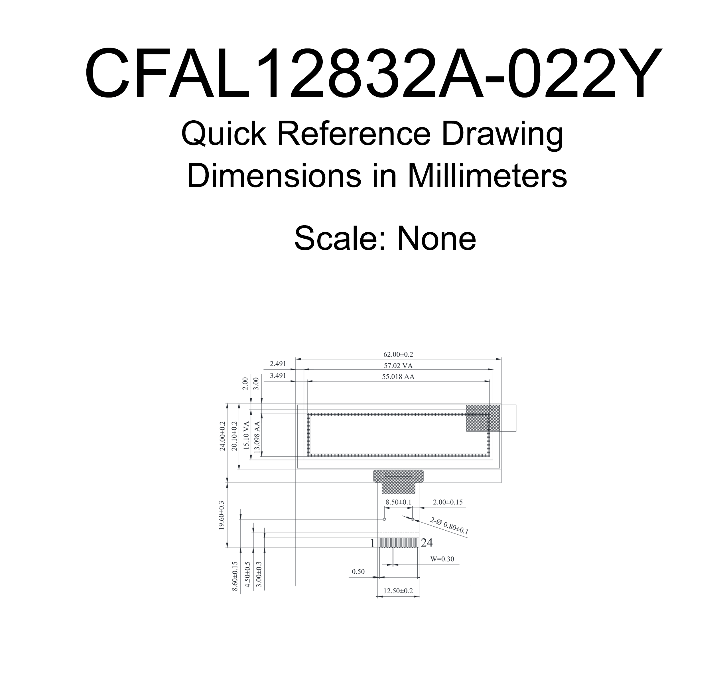 128x32 Small Yellow OLED Module (CFAL12832A022Y)