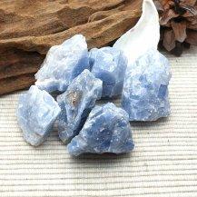 Rå blå kalcit