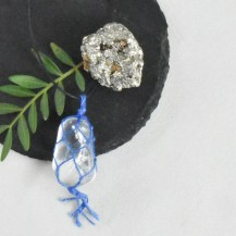 Halsband makrame bergkristall