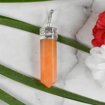 Hänge orange aventurin indisk