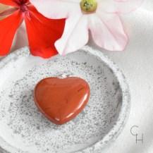 Hänge hjärta röd jaspis