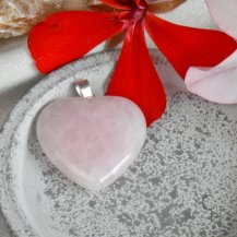 Hänge hjärta rosenkvarts
