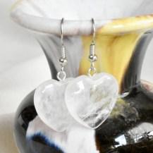 Örhängen hjärta bergkristall