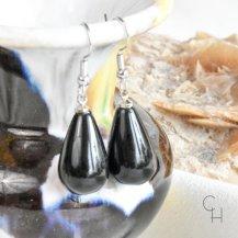 Örhängen stor dropp svart onyx