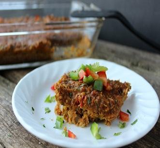 Mexican lentil quinoa bake