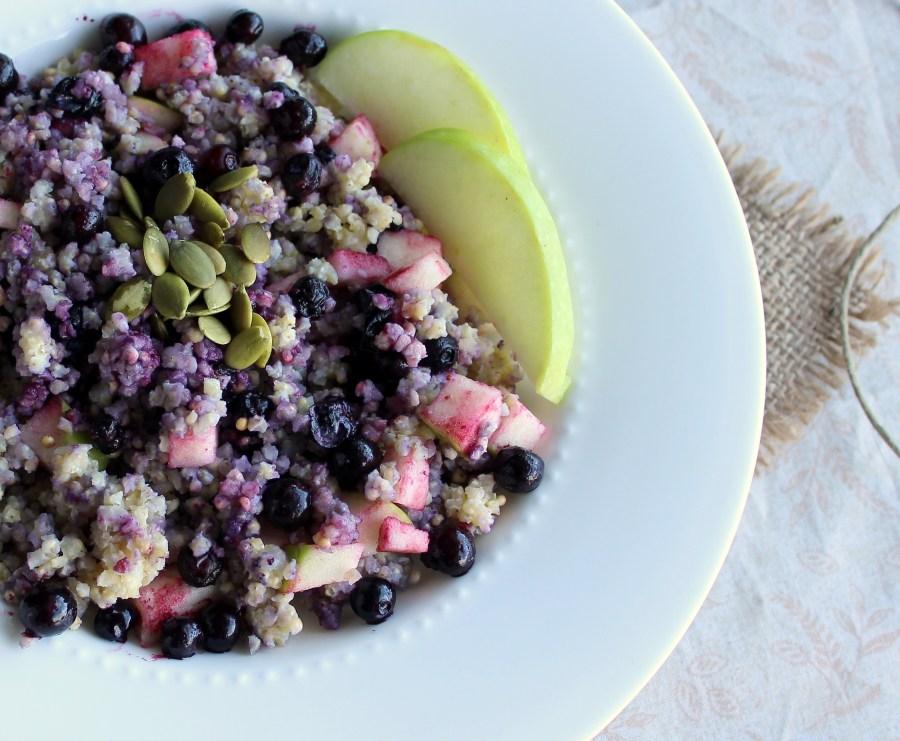 Millet blueberry apple breakfast