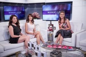 Andrea Sazwan with Kathy Ireland on Modern Living TV