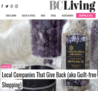 BC Living Article on Crystal Hills