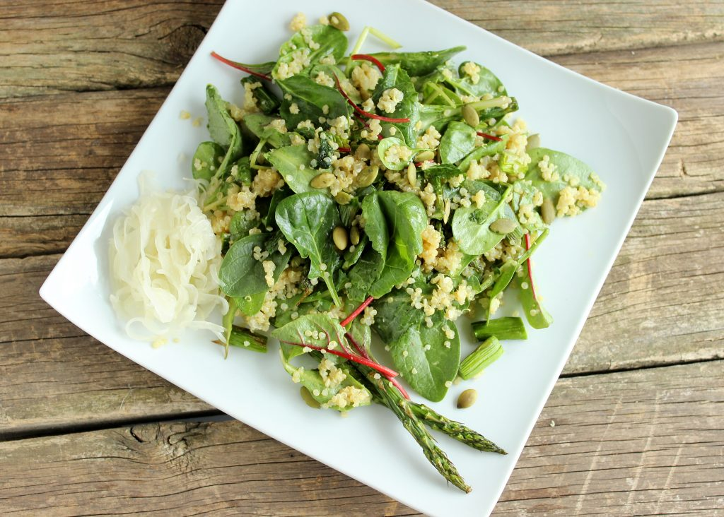 Roasted Asparagus and Quinoa Salad