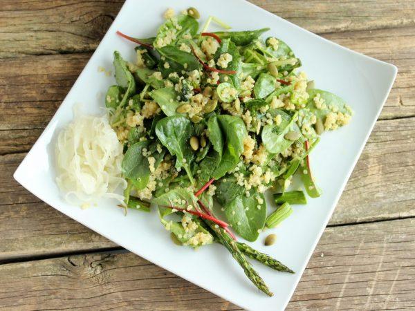 Roasted Asparagus and Quinoa Salad
