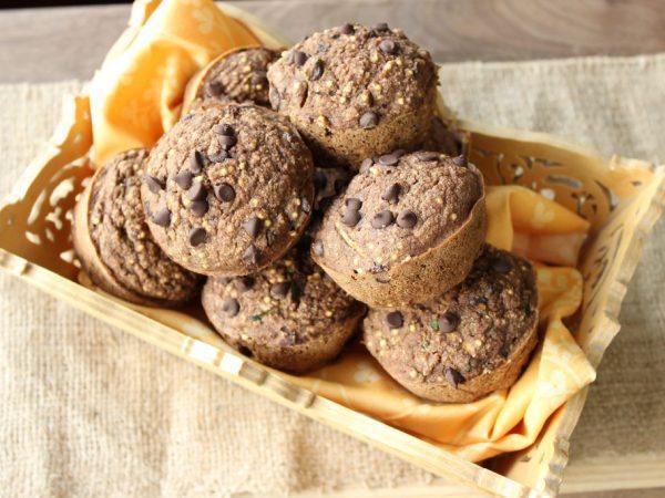 Chocolate zuchini muffins