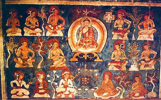 The Mani Prayer wheel used for prayers in Tibetan Buddhism