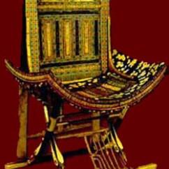 Turquoise Side Chair Vintage Leather King Tutankhamen's Tomb - Crystalinks