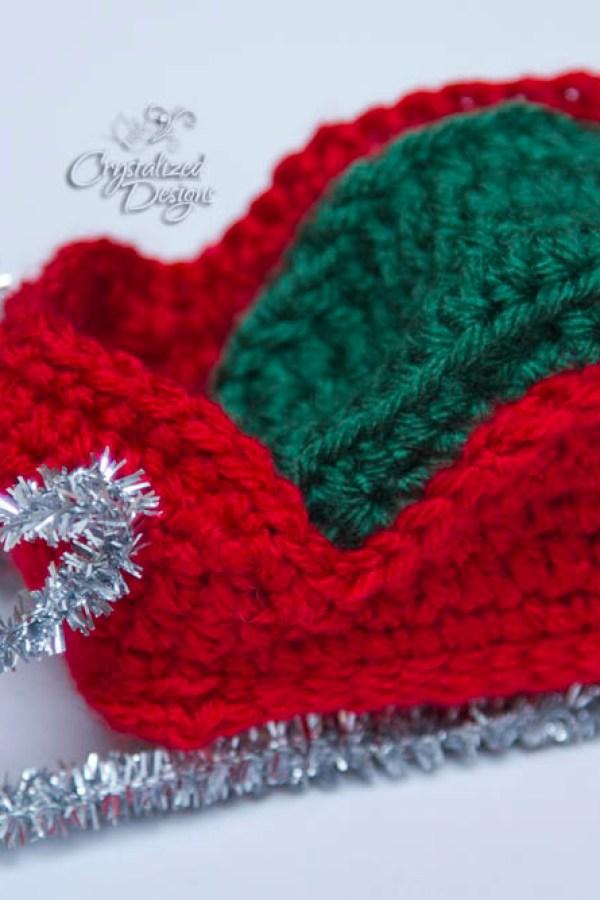 Santas Sleigh Ornament Crochet Pattern Crystalized Designs Blog