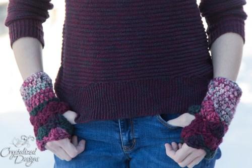 Shell Wrist Warmers A Free Crochet Pattern Crystalized Designs Blog