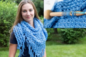 Broomstick Lace Groove Tool and Shawl Crochet Pattern