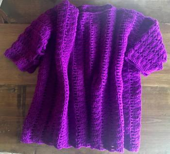 Nimerah Pullover Crochet Pattern by Crystalized Designs Tested by Stevee