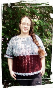 Nimerah Pullover Crochet Pattern by Crystalized Designs Tested by Alicia
