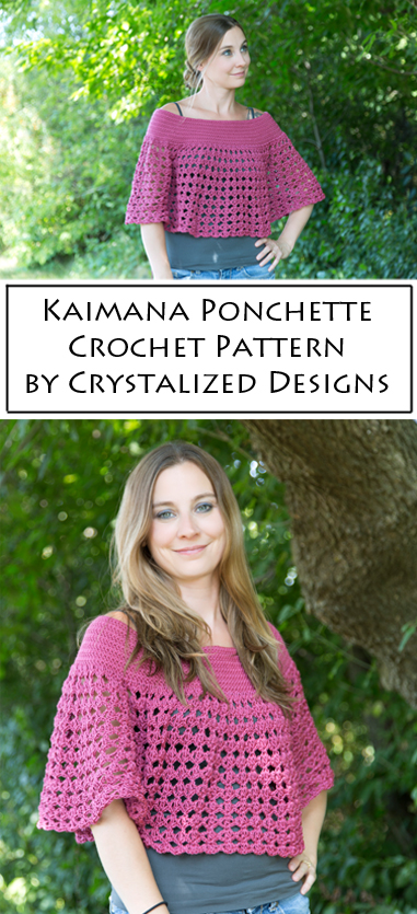 Kaimana Ponchette Crochet Pattern by Crystalized Designs