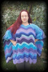 Riverwalk Poncho Crochet Pattern by Crystalized Designs