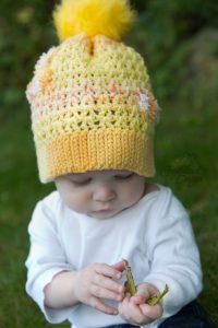 Pom Pom Beanie Crochet Pattern