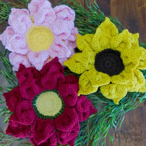 Crochet Flower Bowls