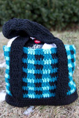 Crochet Buffalo Plaid Tote