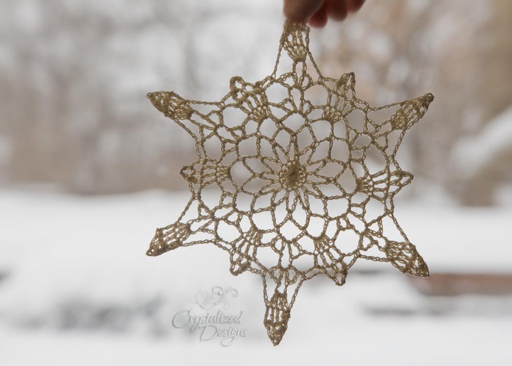 Pineapple Snowflake Crochet Pattern