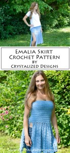 Emalia Skirt Cowl Top Crochet Pattern by Crystalized Designs